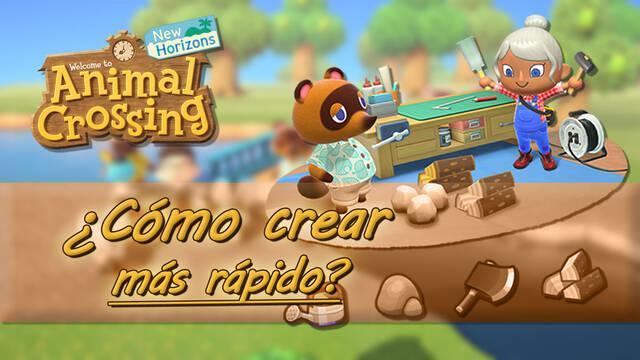 ¿Cómo crear objetos y herramientas más rápido en Animal Crossing: New Horizons?