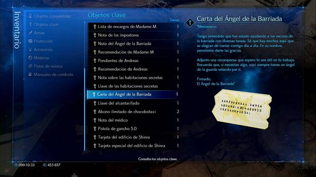 Cómo conseguir la carta del Ángel de la Barriada en Final Fantasy VII Remake