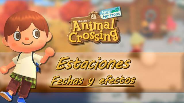 Estaciones del año en Animal Crossing: New Horizons, fechas y sus efectos