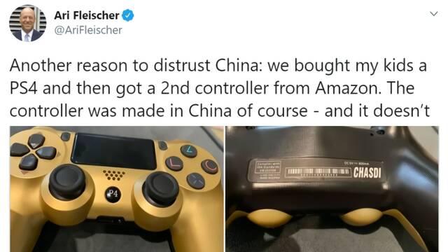 Otra razón para desconfiar de China, dice un político de EEUU sobre un mando falso de PS4