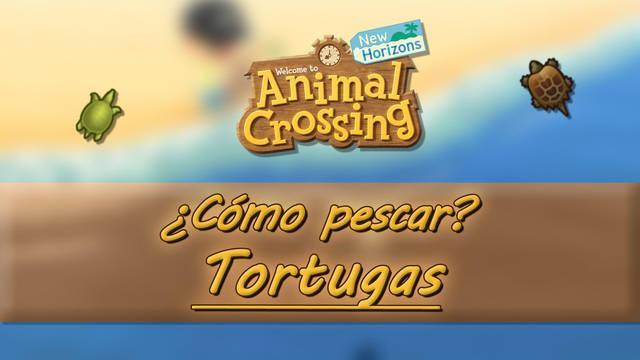 Cómo pescar tortugas mordedoras y de caparazón blando en Animal Crossing New Horizons