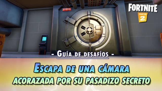 Desafío Fortnite: Escapa de una cámara por un Pasadizo secreto - SOLUCIÓN