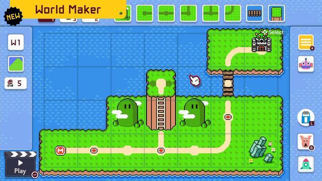 Super Mario Maker 2 Actualización final Crear mundos