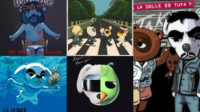 Versiones de discos de Totakeke, el perro cantautor de Animal Crossing.