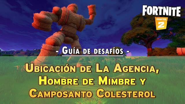 Fortnite: Visita La Agencia, Hombre de mimbre y Camposanto Colesterol - LOCALIZACIÓN