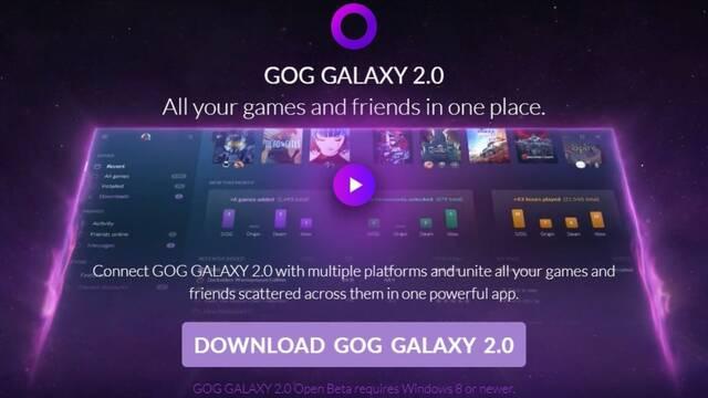 GOG Galaxy se actualiza a la versión 2.0 incluyendo un buen número de interesantes novedades.