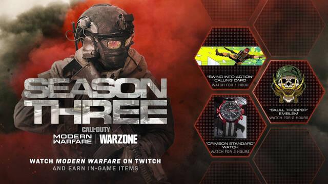 Call of Duty Twitch Warzone Modern Warfare Drops