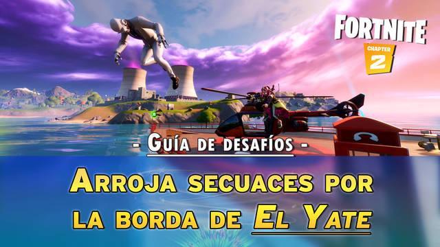 Desafíos Fortnite: Lanza secuaces por la borda en El Yate - SOLUCIÓN