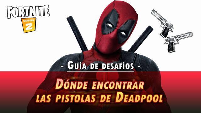 Desafío Fortnite: Encuentra las pistolas de Deadpool - SOLUCIÓN