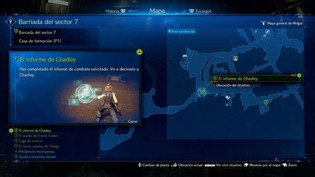 El informe de Chadley en Final Fantasy VII Remake - Cómo completarla