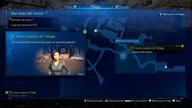 El nuevo capataz de Tallaga en Final Fantasy VII Remake - Cómo completarla