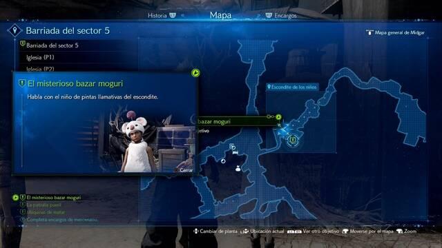 El misterioso bazar moguri en Final Fantasy VII Remake - Cómo completarla