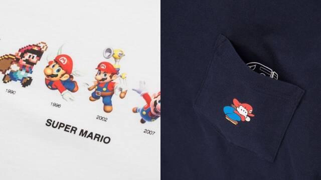 Nuevas camisetas de Mario en Uniqlo con motivo del 35º aniversario de la saga.