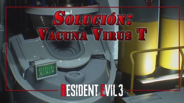 Resident Evil 3 Remake: Puzzle de la vacuna del Virus T - Solución