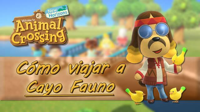 Viajar al islote Cayo Fauno en Animal Crossing: New Horizons
