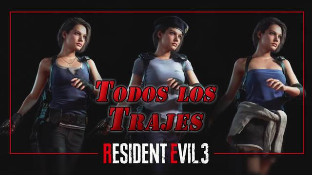 ¿Cómo conseguir todos los trajes de Jill y Carlos en Resident Evil 3: Remake?