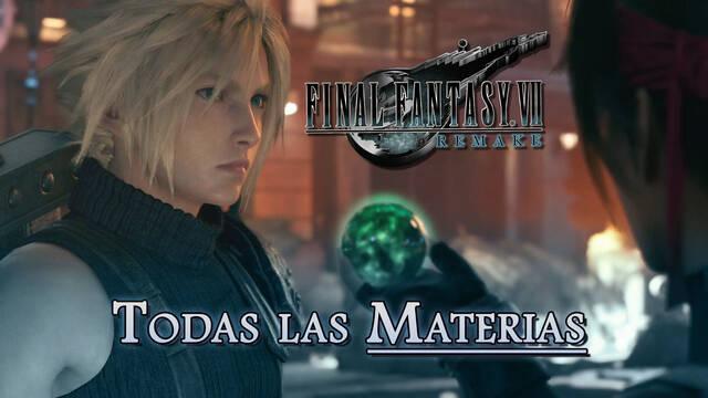 TODAS las Materias en Final Fantasy VII Remake y cómo conseguirlas