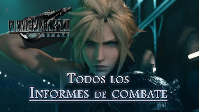 Informes de combate y recompensas en Final Fantasy VII Remake