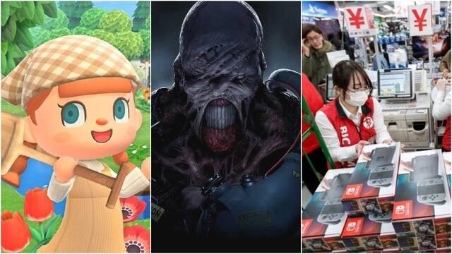 Animal Crossing sigue triunfando, Switch vendiendo y RE3 debuta con fuerza