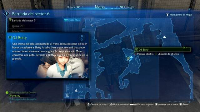DJ Betty en Final Fantasy VII Remake - Cómo completarla