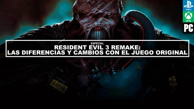 Resident Evil 3 Remake vs RE 3 original - Diferencias y cambios