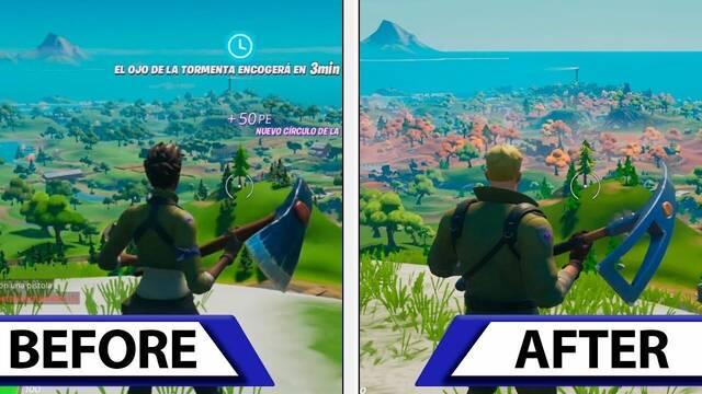 Vídeo con las mejoras de Fortnite en Nintendo Switch