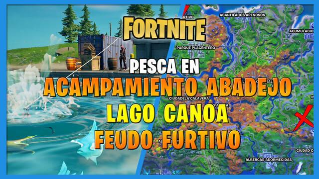 Fortnite: cómo pescar en Acampamiento Abadejo, Lago Canoa o Feudo Furtivo
