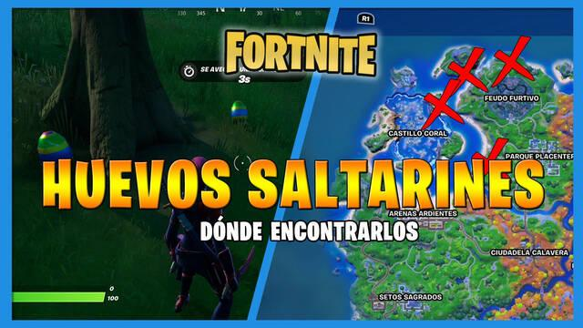 Fortnite: dónde encontrar huevos saltarines