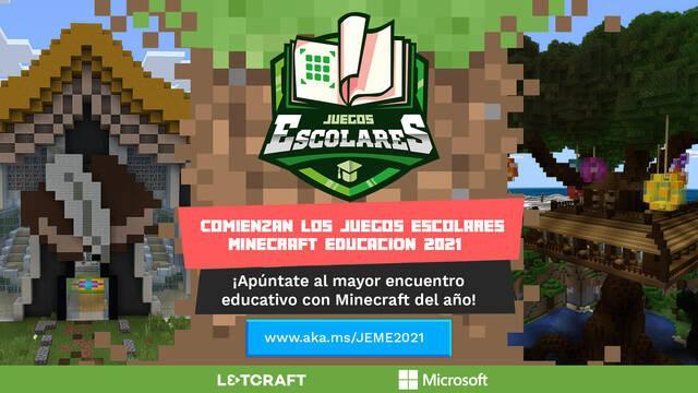 Juegos Escolares Minecraft Educación 2021