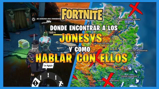 Fortnite: cómo hablar con los Jonesys - Localización
