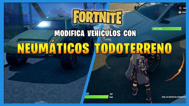 Fortnite: cómo modificar vehículos con neumáticos todoterreno