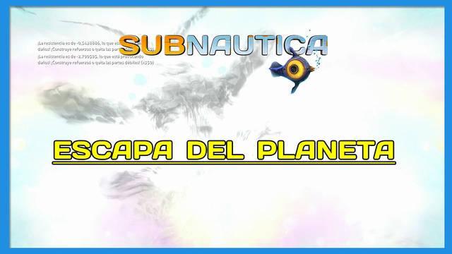 Escapa del planeta en Subnautica al 100%