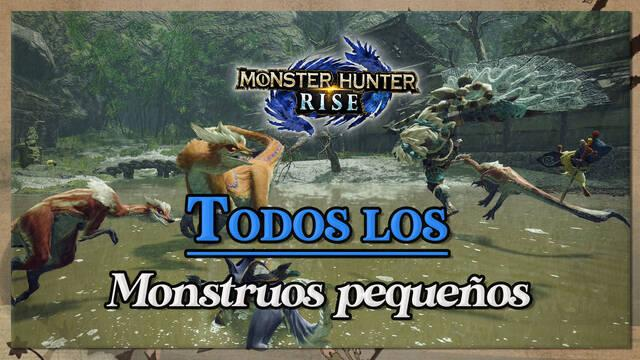 Monstruos pequeños en Monster Hunter Rise; características y materiales