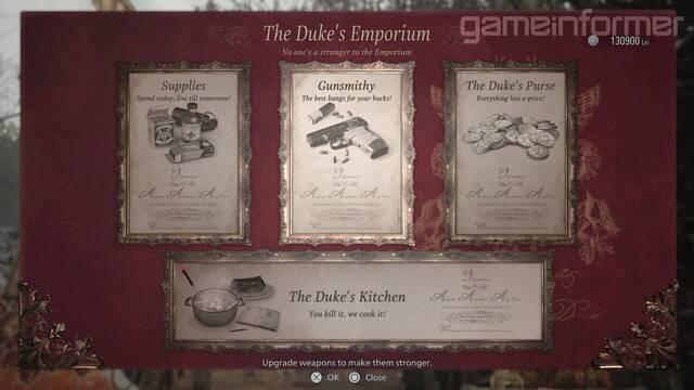 Resident Evil 8 Village mejoras caza cocina