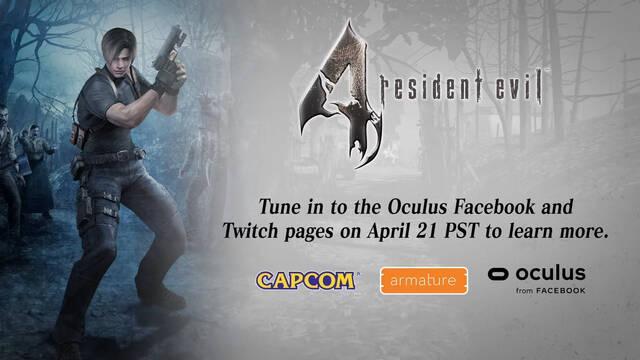 Resident Evil 4 VR anunciado para Oculus Quest 2
