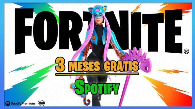 Fortnite regala 3 meses de Spotify Premium para suscriptores del Club Fortnite