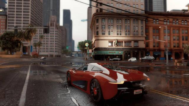 Así luce Grand Theft Auto V a 4K y con ray tracing gracias a un mod en PC.