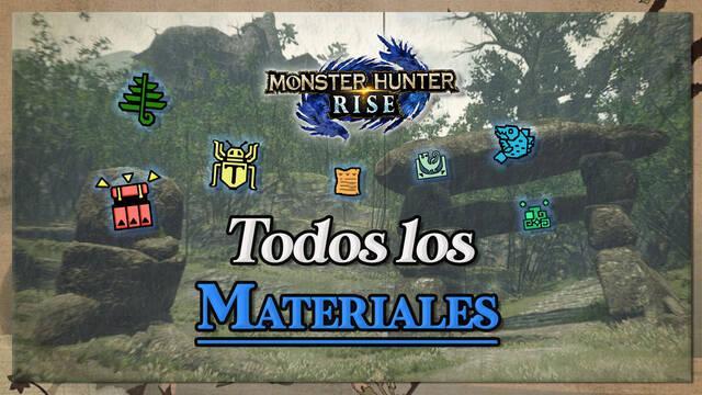 Monster Hunter Rise: Todos los materiales/objetos, cómo conseguirlos y recetas