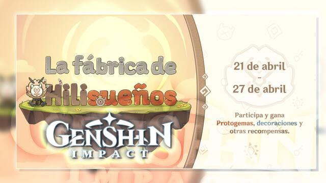 Genshin Impact: Gana Protogemas gratis con el evento web La fábrica de Hilisueños