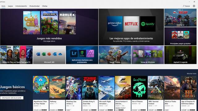Tienda Microsoft renovación Windows 10 Sun VAlley