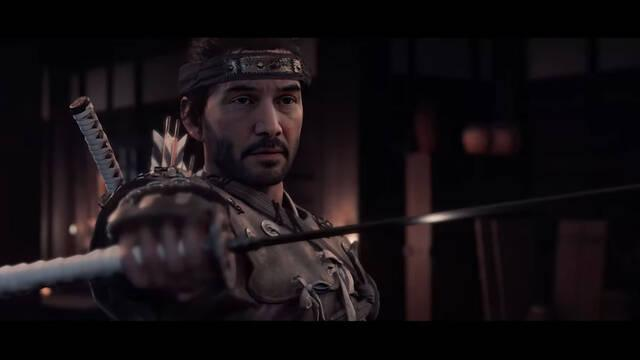 'Deepfake' de Keanu Reeves en Ghost of Tsushima.