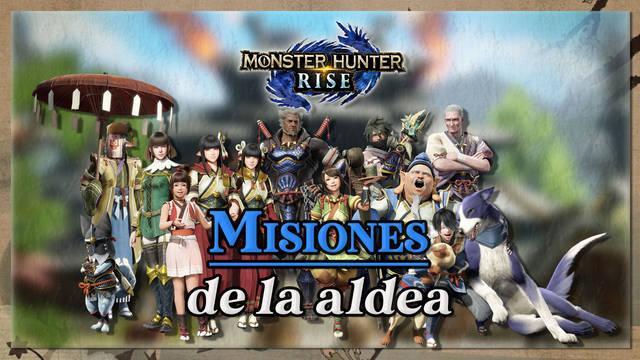 Todas las misiones de la aldea en Monster Hunter Rise y cómo completarlas