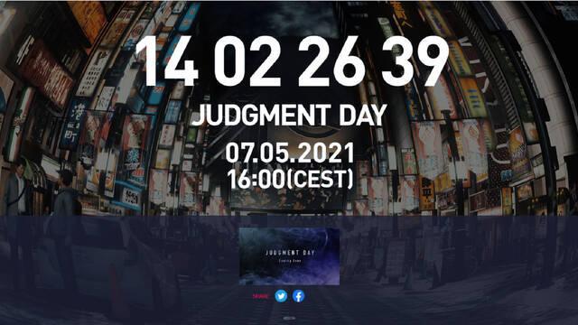 Judgment Day web cuenta atrás Lost Judgment
