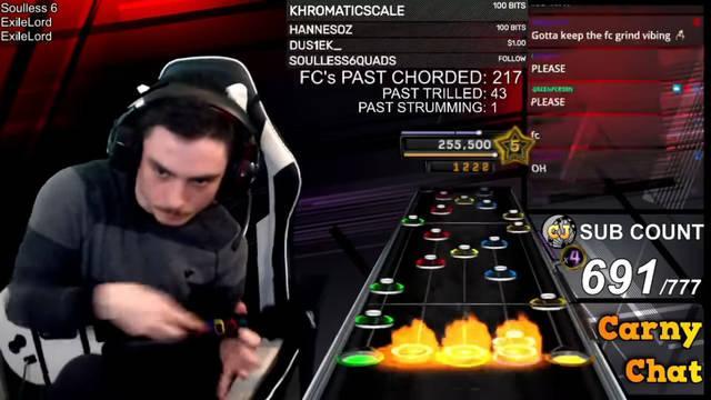 Un streamer supera al 100% una canción imposible de Clone Hero.