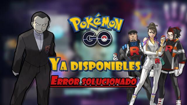 Pokémon GO soluciona el problema del Team GO Rocket; ya están de vuelta