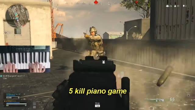 El pianista de Call of Duty: Warzone