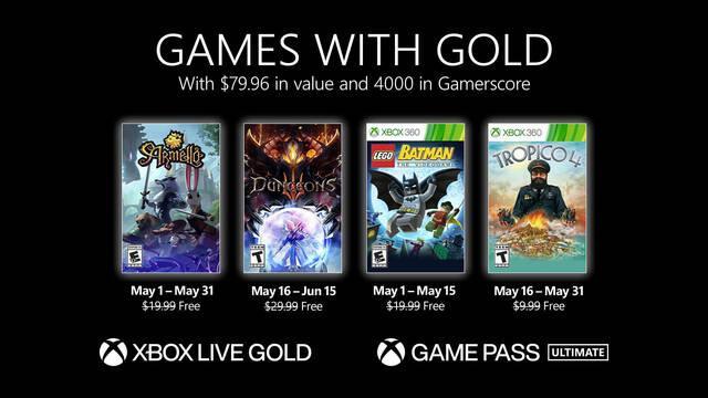 Juegos con Gold de mayo de 2021.