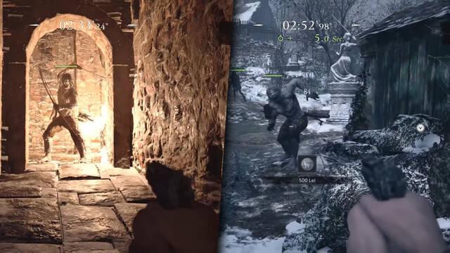 Gameplay del modo Los Mercenarios de Resident Evil 8: Village.