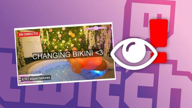 Twitch vigila de cerca la desnudez en los streamings de 'hot tub'.