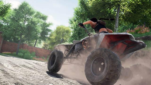 Lara Croft conduciendo un quad en el remake fan de Tomb Raider 2
